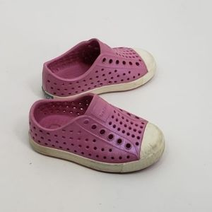 NATIVE pearly pink Jefferson slip on shoes